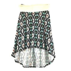 🍒Cute Stylish Aztec Print High- Low Jersey Skirt